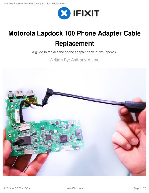 Motorola Lapdock 100 Phone Adapter Cable Replacement