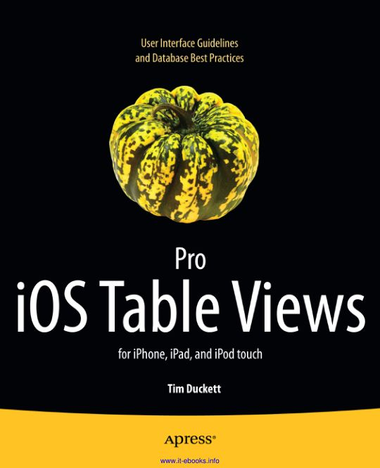 Pro iOS Table Views_ For iPhon - Tim Duckett_9014