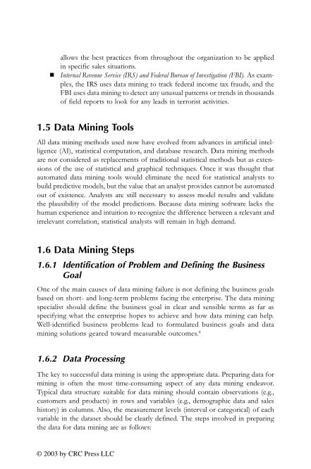 1.5 Data Mining Tools | Page 6