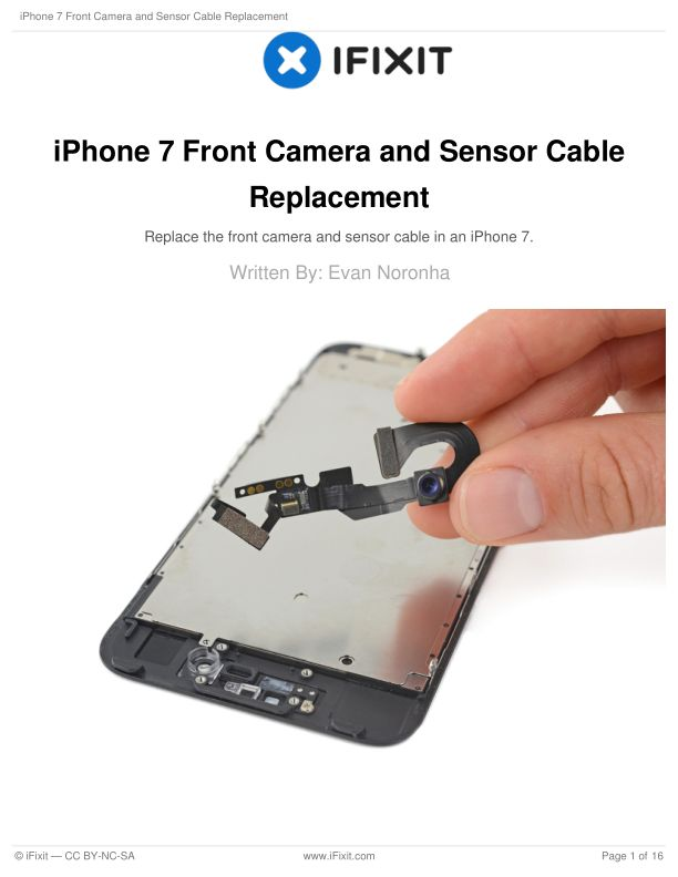 iPhone 7 Front Camera and Sensor Cable Replacement