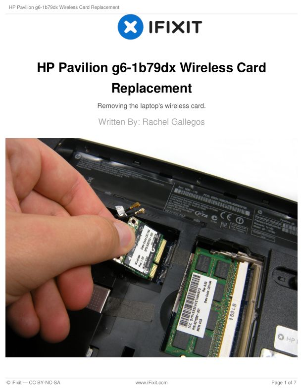 HP Pavilion g6-1b79dx Wireless Card Replacement