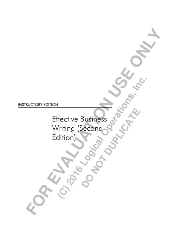 Effective Business Writing - Logical Operations_315