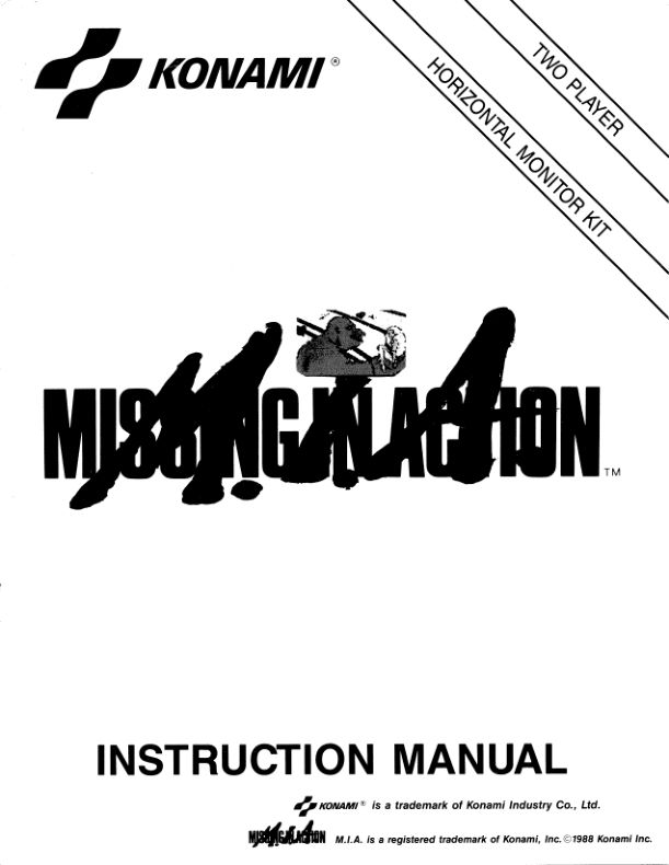 M.I.A. - Missing in Action - Arcade - Manual - gamesdatabase.org