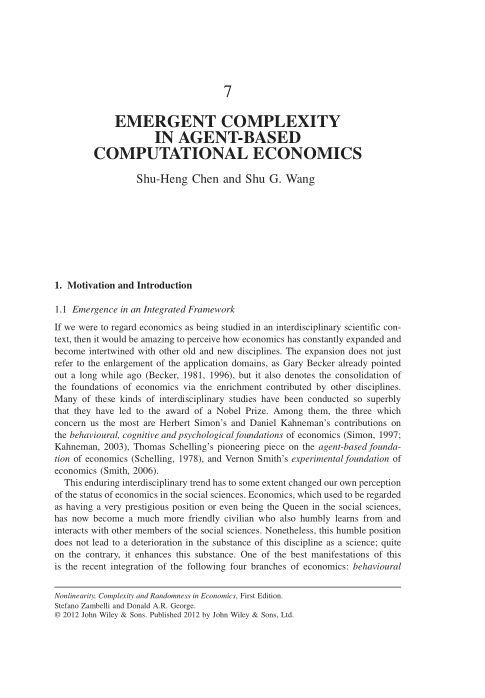 7. Emergent Complexity in Agent-Based Computational Economics | Page 9