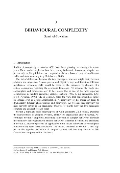 5. Behavioural Complexity | Page 7