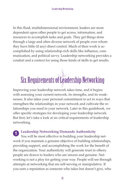 Six Requirements of Leadership Networking   Page 8