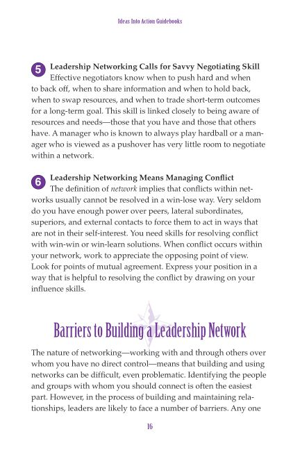 Barriers to Building a Leadership Network   Page 9