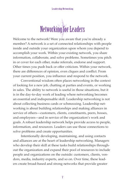 Networking for Leaders   Page 6