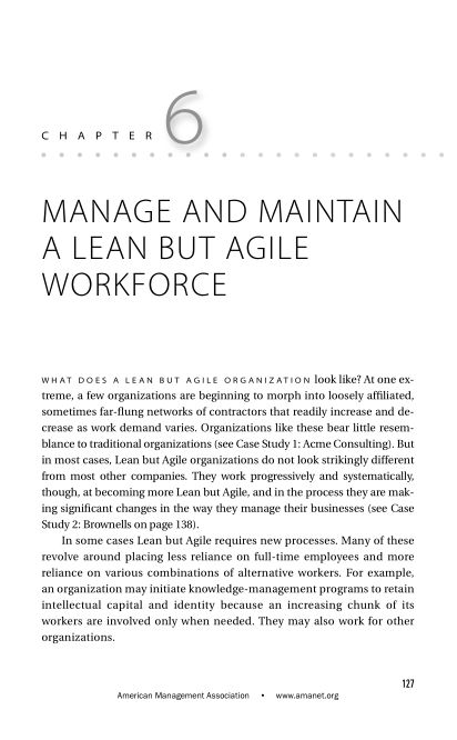 CHAPTER 6 Manage and Maintain a Lean but Agile Workforce   Page 8