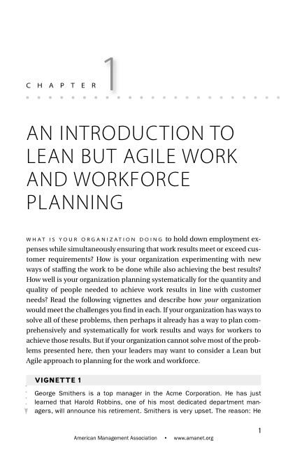 CHAPTER 1 An Introduction to Lean but Agile Work and Workforce Planning   Page 3