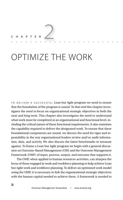 CHAPTER 2 Optimize the Work   Page 4