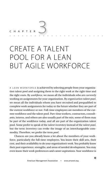 CHAPTER 3 Create a Talent Pool for a Lean but Agile Workforce   Page 5