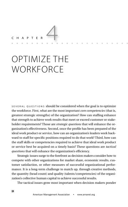 CHAPTER 4 Optimize the Workforce   Page 6
