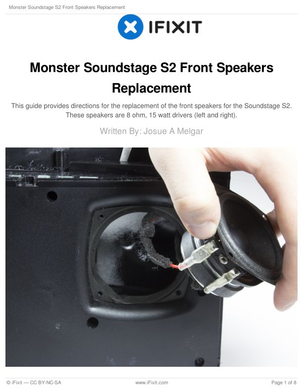Monster Soundstage S2 Front Speakers Replacement