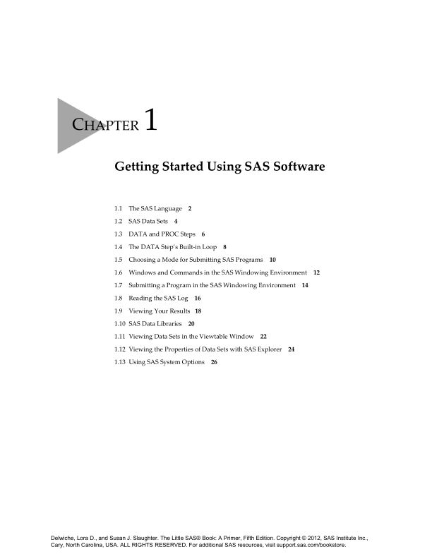 Chapter 1 Getting Started Using SAS Software   Page 4