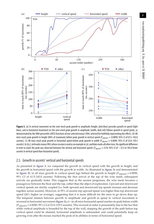 Growth in ascents' vertical and horizontal speeds   Page 5