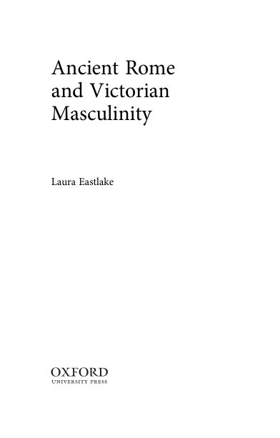 Ancient Rome and Victorian Masculinity   Page 1