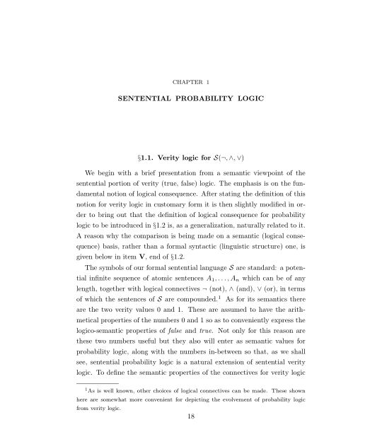 Chapter 1. Sentential Probability Logic | Page 4