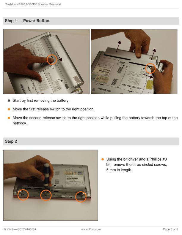 Step 1 — Power Button   Page 1
