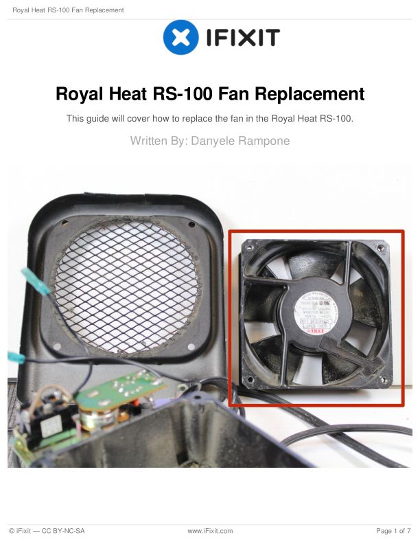 Royal Heat RS-100 Fan Replacement