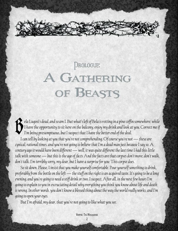 Prologue: A Gathering of Beasts | Page 0