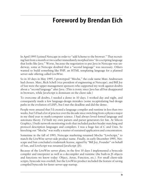 Foreword by Brendan Eich   Page 2
