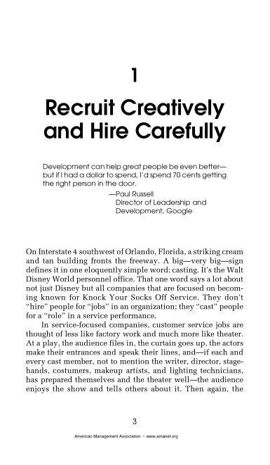 1 Recruit Creatively and Hire Carefully   Page 5
