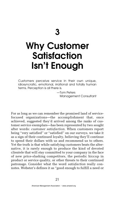 3 Why Customer Satisfaction Isn't Enough   Page 8
