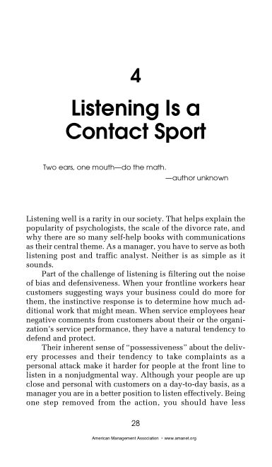 4 Listening Is a Contact Sport   Page 9
