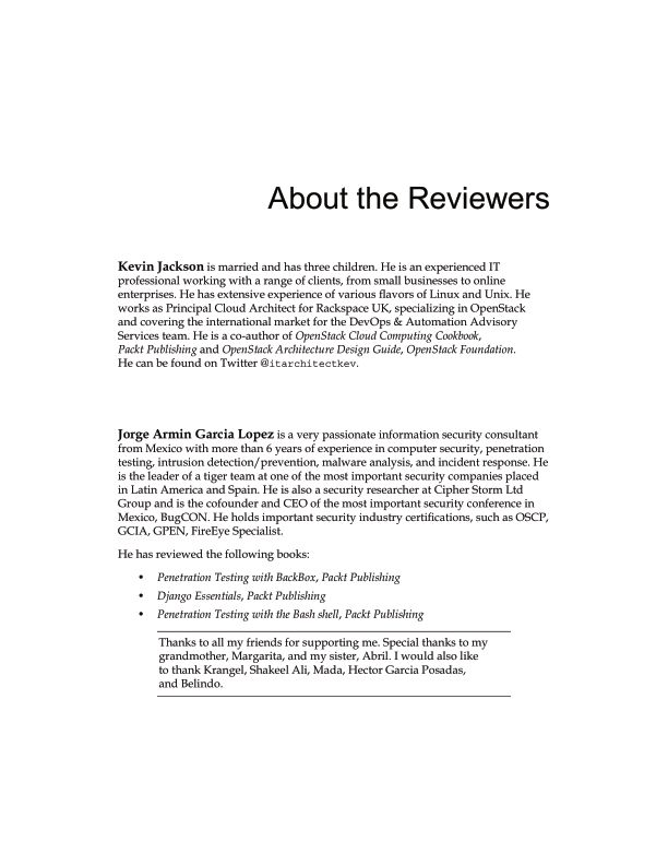 About the Reviewers | Page 4