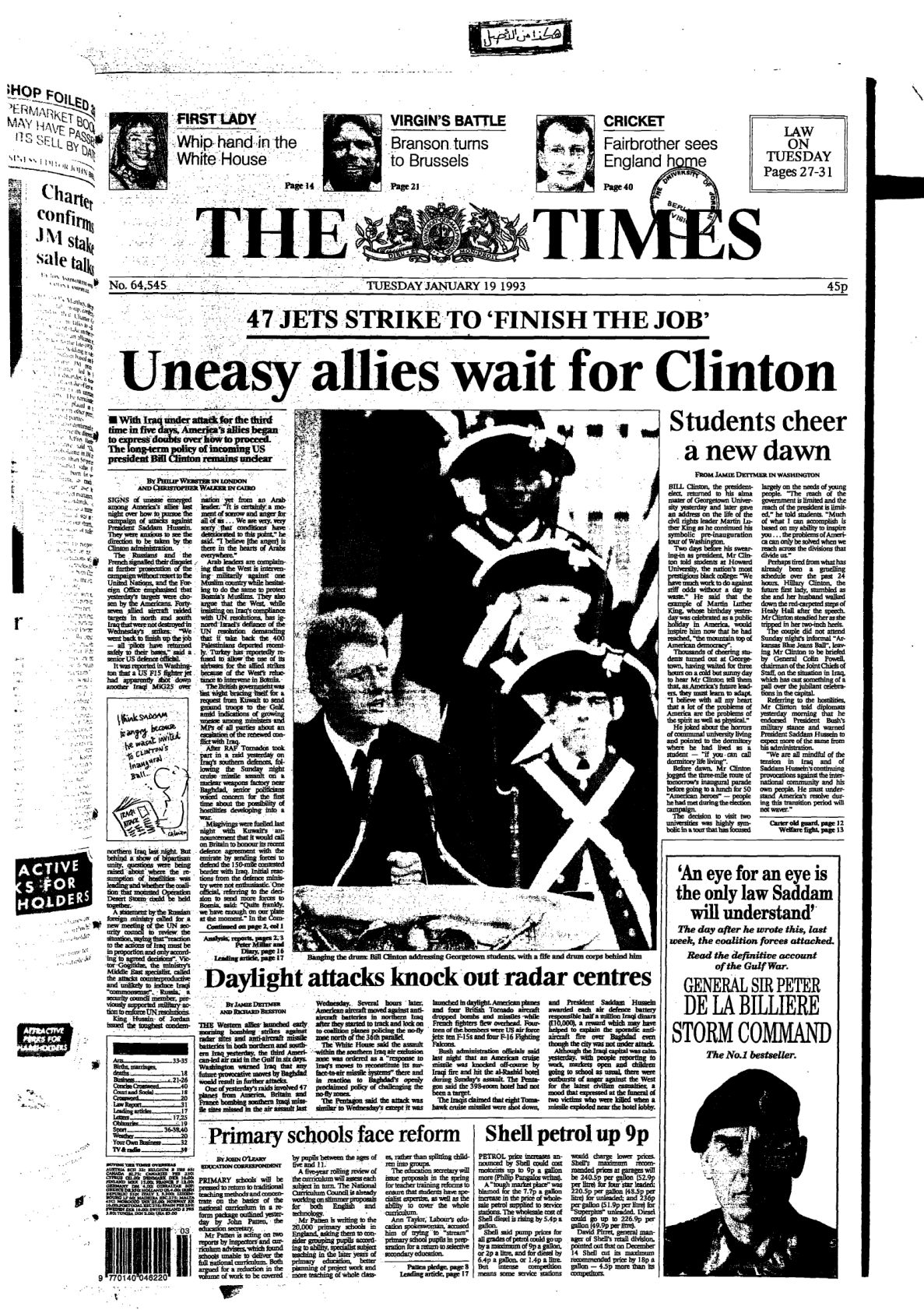 The Times Issue No. 64545. 1993-01-19, UK