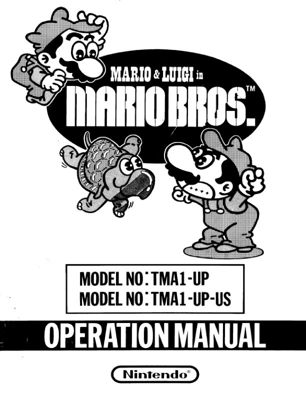 Mario Bros. - Arcade - Manual - gamesdatabase.org