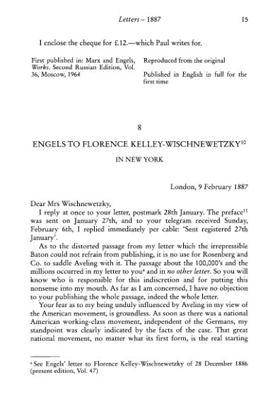 8. Engels to Florence Kelley- Wischnewetsky 9 February  | Page 10