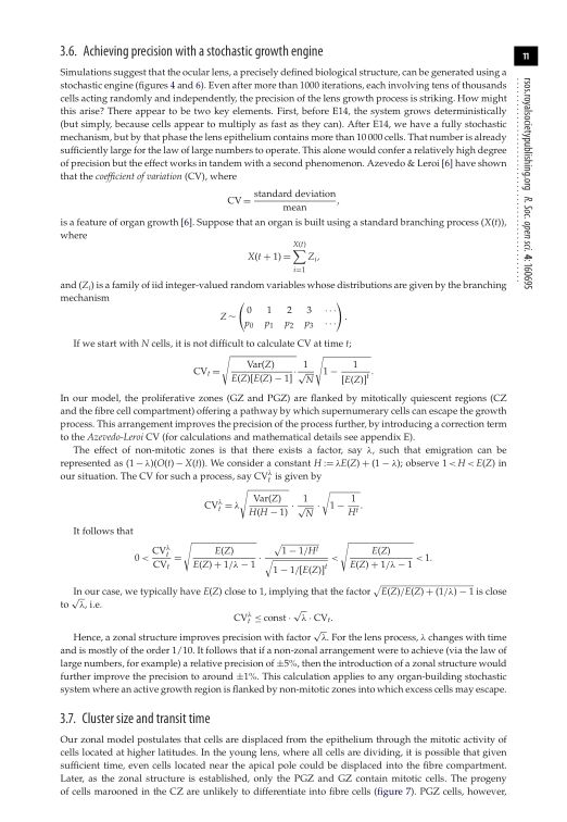 Achieving precision with a stochastic growth engine   Page 9