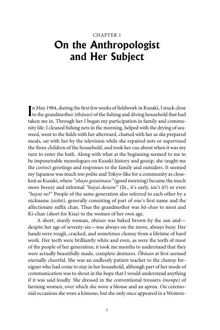 Chapter 1 On the Anthropologist and Her Subject | Page 2