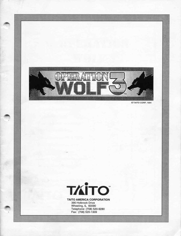 Operation Wolf - Arcade - Manual - gamesdatabase.org