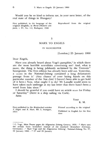 3. Marx to Engels. 25 January  | Page 5