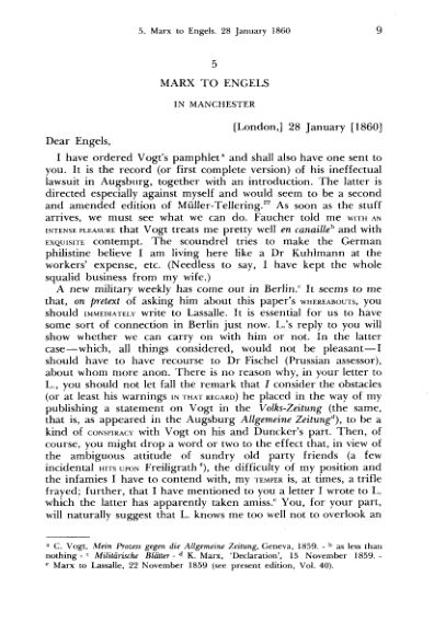 5. Marx to Engels. 28 January  | Page 7