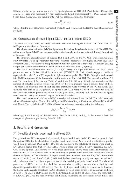 Characterization of isolated lignin (DES-L) and solid residue (DES-C) | Page 6