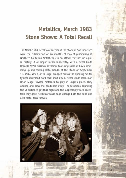 Metallica, March 1983 Stone Shows: A Total Recall | Page 4