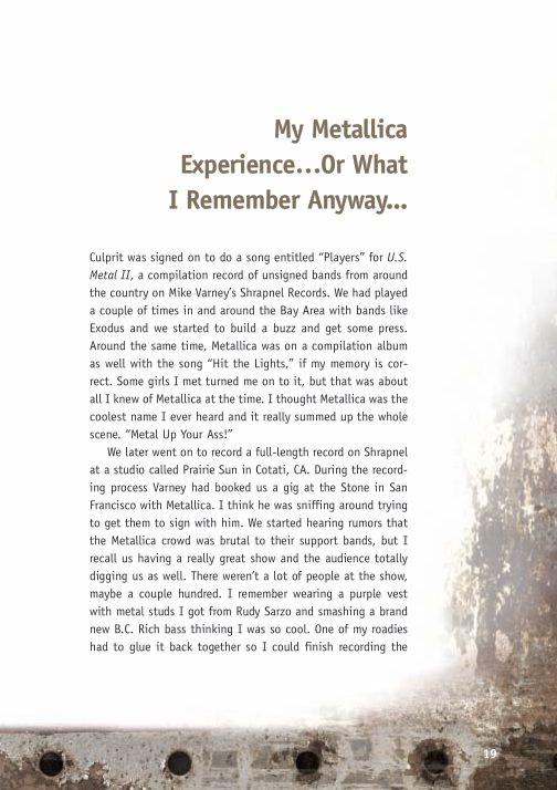 My MetallicaExperience…Or What I Remember Anyway... | Page 5