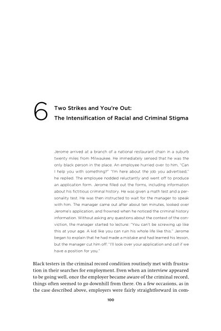6 Two Strikes and You're Out: The Intensification of Racialand Criminal Stigma | Page 9