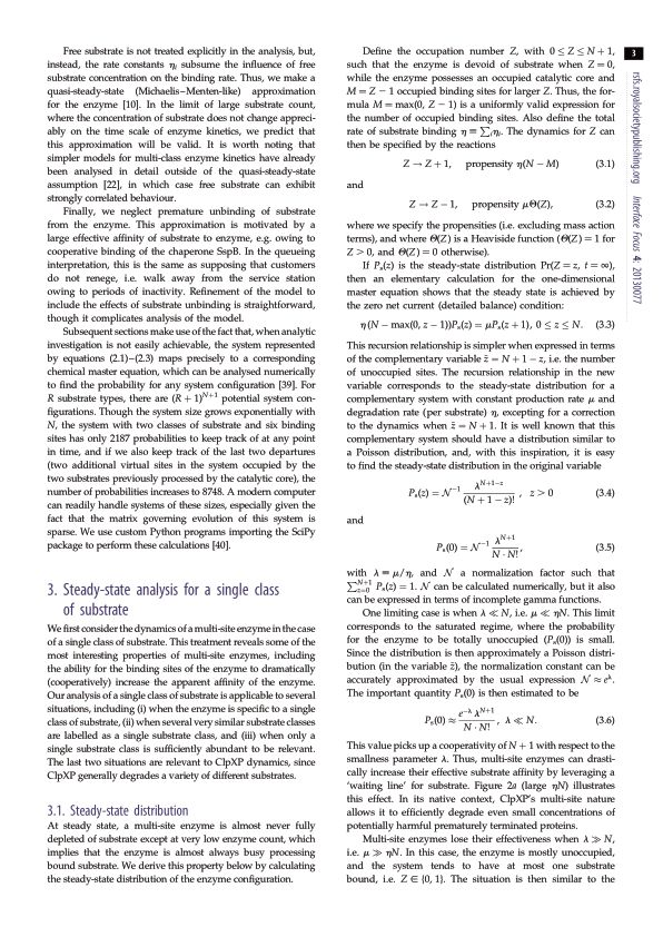 Steady-state analysis for a single class of substrate | Page 1