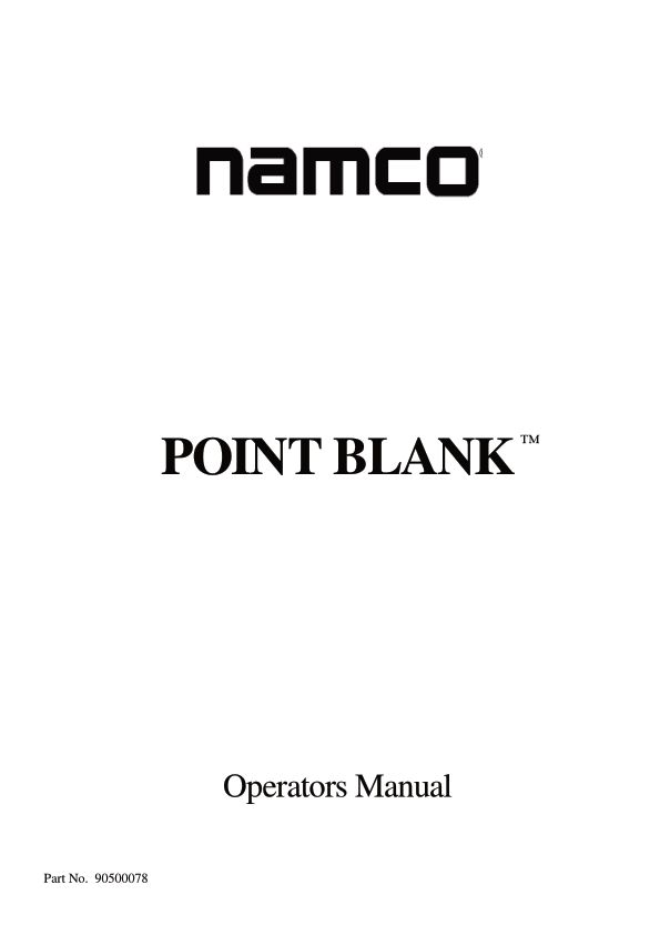 Point Blank - Arcade - Manual - gamesdatabase.org