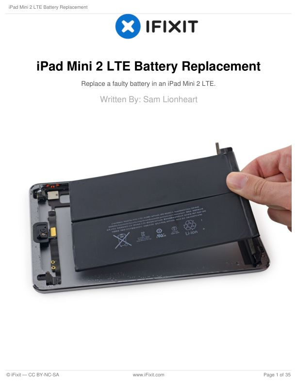 iPad Mini 2 LTE Battery Replacement
