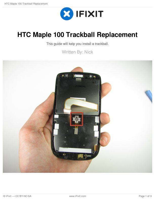 HTC Maple 100 Trackball Replacement