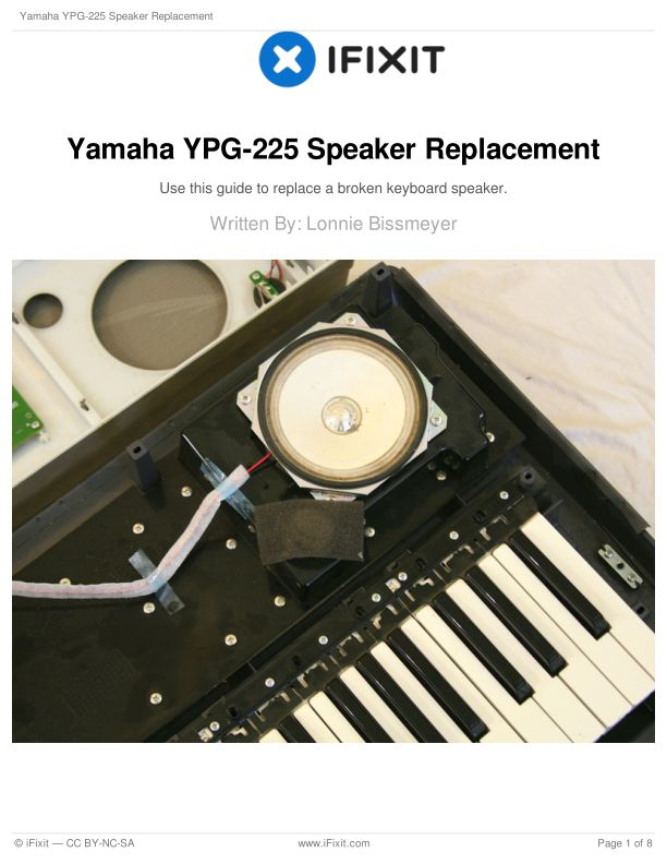 Yamaha YPG-225 Speaker Replacement