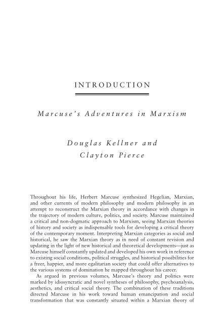 Introduction Marcuse's Adventures in Marxism   Page 4