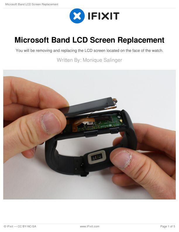 Microsoft Band LCD Screen Replacement