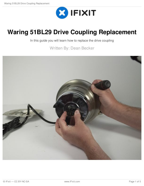 Waring 51BL29 Drive Coupling Replacement